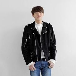 Seoul Homme - Faux-Suede Rider Jacket