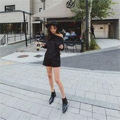 ERANZI - Colored Zip-Side Shorts