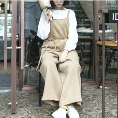 MATO - Wide Leg Pinafore Jumpsuit with Cord