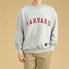 THE COVER - Round-Neck Lettering Sweatshirt