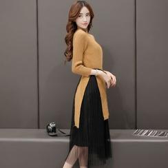 Romantica - Set: Knit Top + Skirt