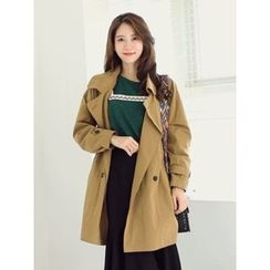 LOLOten - Double-Breasted Trench Coat