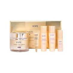 IOPE - Super Vital Cream Bio Excellent Rich Set: Cream 50ml + Softener 20ml + Emulsion 20ml + Serum 5ml + Eye Cream 3ml