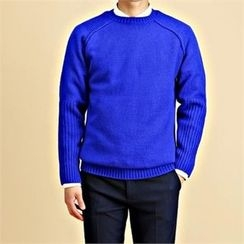 THE COVER - Crew-Neck Raglan-Sleeve Sweater