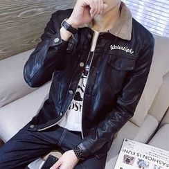 Besto - Faux Leather Jacket