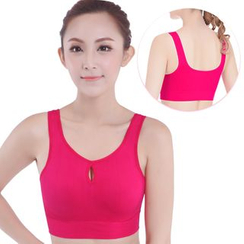 Delico - Cut Out Front Sports Bra