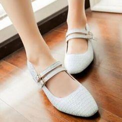 Tomma - 压纹平跟鞋