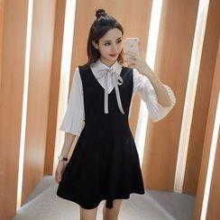 Phyllis - 套裝: 七分袖襯衫 + 無袖連衣裙