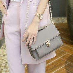 Sybil - Faux-Leather Chain-Strap Satchel