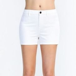 Yishion - High-Waist Denim Shorts