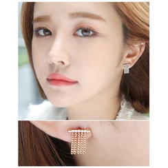 Miss21 Korea - Chain-Fringe Earrings