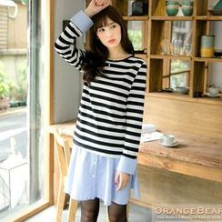 OrangeBear - Set: Striped Top + Striped A-Line Skirt