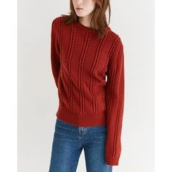 Someday, if - Crew-Neck Wool Blend Knit Top
