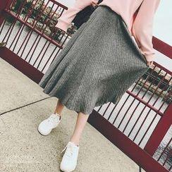 Kojasmine - Knit A-Line Skirt
