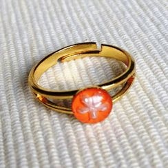 MyLittleThing - Resin Little Snowflake Ring (Orange)