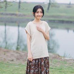 兰芝 - 纯色短袖T裇