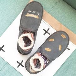SouthBay Shoes - Hotdog Embroidered Slip-Ons