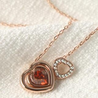 O.SA - Crystal Heart Pendant Necklace