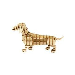 Team Green - Plywood Puzzle - Dachshund