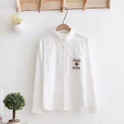 Tangi - Embroidered Long-Sleeve Shirt