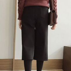 Little V - Inset Leggings Straight Cut Cropped Pants