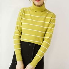 Honey House - Striped Turtleneck Sweater