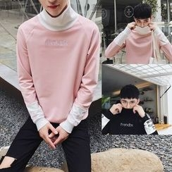 uninukoo - Panel Turtleneck Sweatshirt