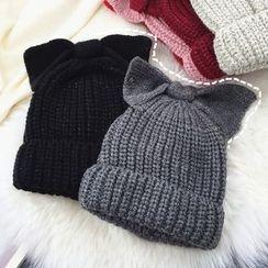 Pompabee - Knit Bow Beanie