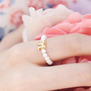 kitsch island - Bow-Accent Beaded Ring
