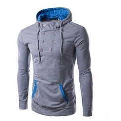 Hansel - Buttoned Hoodie