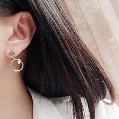 Utsukushi - Beaded Non-Matching Earrings