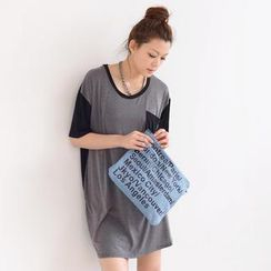 SO Central - Color-Block T-Shirt Dress