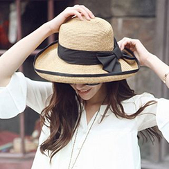 Pompabee - Bow Straw Hat