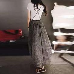 Jolly Club - Self-Tie Strappy Jumper Skirt
