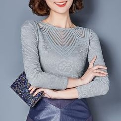 Ekim - Fleece-lined Perforated Top
