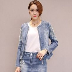Romantica - Beaded Denim Jacket