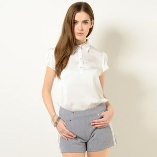 YesStyle Z - Studded Plaid Shorts