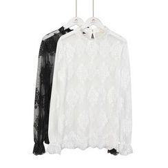 Momewear - Long-SLeeve Lace Blouse