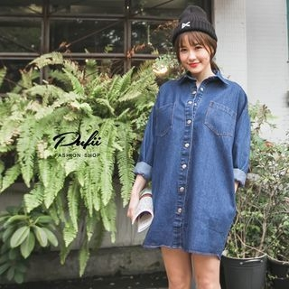 PUFII - Denim Blouse