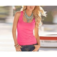 Dream a Dream - Scoop Neck Plain Tank Top