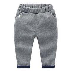 貝殼童裝 - 小童加絨抓毛運動褲