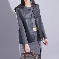 Sonne - Faux-Leather Vest
