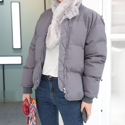 DABAGIRL - Zip-Up Puffer Jacket