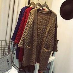 Polaris - 麻花針織粗織開衫
