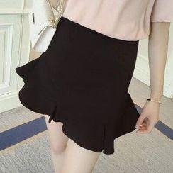 IndiGirl - Ruffled Miniskirt