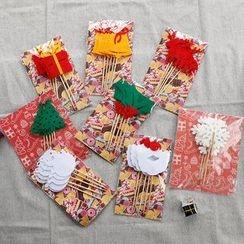 聚可爱 - 圣诞蛋糕旗帜