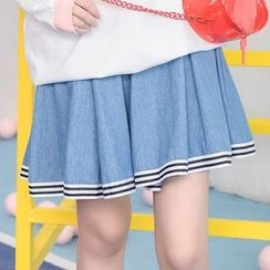 Moriville - Striped A-line Skirt