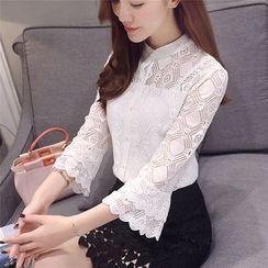 DAZZ - 3/4-Sleeve Lace Shirt