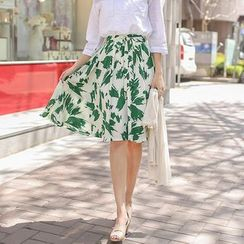 OTTI - Printed A-Line Skirt