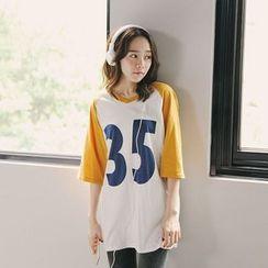 Tokyo Fashion - Print Cutout Back T-Shirt